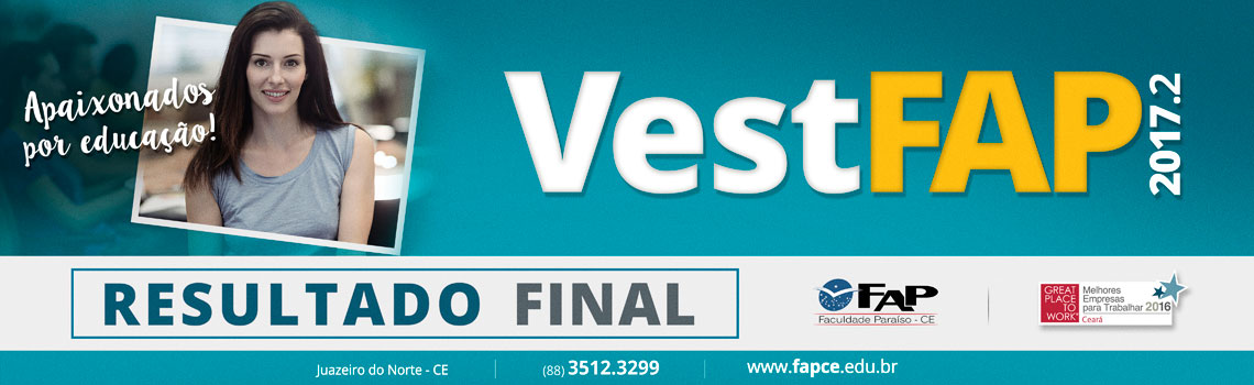 VestFAP 2017.2 - Resultado Final